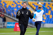 AFC Wimbledon goalkeeping coach Ashley Bayes giving thumbs up during the EFL Sky Bet League 1 match between AFC Wimbledon and Bristol Rovers at Plough Lane, London, United Kingdom on 5 December 2020.