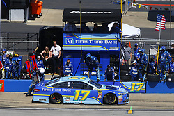 April 29, 2018 - Talladega, Alabama, United States of America - Ricky Stenhouse, Jr (17) brings his car down pit road for service during the GEICO 500 at Talladega Superspeedway in Talladega, Alabama. (Credit Image: © Chris Owens Asp Inc/ASP via ZUMA Wire)