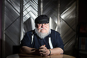 Portait of author George RR Martin in Santa Fe New Mexico
