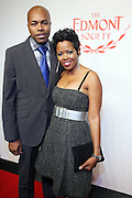l to r: D-Nice and Malinda Williams at the The Edmont Society Affair:  A Benefit for Reader and Writers with a performance by Common and Maya Angelou held at The Friars Club on October 27,, 2008