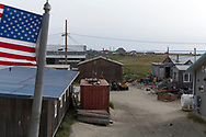 Vågorna i Berings hav eroderar kusten i Shishmaref så att hus fallit ned i havet. Alaska, USA<br /> <br /> Fotograf: Christina Sjögren<br /> <br /> Photographer: Christina Sjogren<br /> Copyright 2018, All Rights Reserved