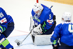Luka Gracnar of Slovenia during ice hockey match between Slovenia and Lithuania at IIHF World Championship DIV. I Group A Kazakhstan 2019, on May 5, 2019 in Barys Arena, Nur-Sultan, Kazakhstan. Photo by Matic Klansek Velej / Sportida