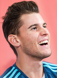 29.02.2016, WU, Wien, AUT, Pressekonferenz Dominic Thiem, im Bild Dominic Thiem // during press conference of austrian tennis player Dominic Thiem at business university in Vienna on 2016/02/29, EXPA Pictures © 2016 PhotoCredit: EXPA/ Michael Gruber