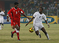Photo: Steve Bond/Richard Lane Photography.<br />Ghana v Namibia. Africa Cup of Nations. 24/01/2008. Asamoah Gyan (R) and Hartman Toromba (L) go for the ball
