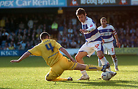 Photo: Tony Oudot.<br />Queens Park Rangers v Sheffield Wednesday. Coca Cola Championship. 10/03/2007.<br />Lee Cook of QPR goes past Kenny Lunt of Sheffield Wednesday