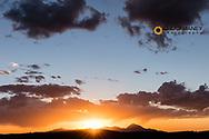 Vivid sunset in Mesa Verde National Park, Colorado, USA