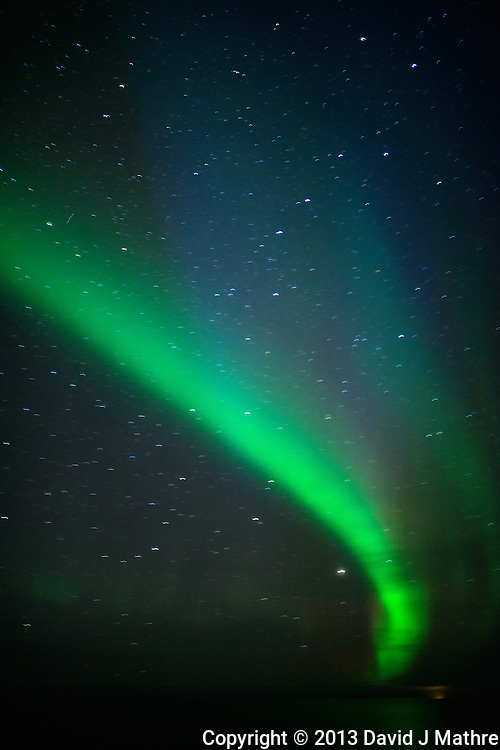 Northern Lights While Sailing North on the Hurtigruten MV Nordkapp. Image taken with a Nikon D800 and 24 mm f/1.4G lens (ISO 1600, 24 mm, f/1.4, 4 sec).