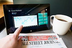 Using financial application on a Microsoft Surface rt tablet computer