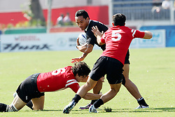 Hosea Gear of New Zealand during the XIX Commonwealth Games 7s rugby match between New Zealand and Canada held at The Delhi University in New Delhi, India on the  10 October 2010..Photo by:  Ron Gaunt/photosport.co.nz
