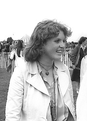 SARAH FERGUSON at a polo match in Berkshire in July 1979