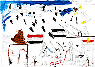 """""""Bad Day"""" by Hitam, age 17, from Mosul, Iraq (Yazidi). It was a very sad day in Mosul, in Iraq. It lived in Mosul, in the inner city. You can see the airplanes and such, the terrorists were there, that for 2 or 3 hours, they were so many, my father and I and my sister (she was sick), the people were shooting and such, the people we saw, they were shooting, … gives many people in the inner city of Mosul, the terrorists were shooting at the airplanes, 3 or 4 airplanes. There were bombs. My father said, we had to leave Mosul. Behind the house there were terrorists. We had to go to through another house to get away from them. Then, we hit a control point, that controlled who went in and out. We met these others, from a religion is called Sunni, a man who was Sunni, we could not leave because we are Yazidi, the Sunni said he would come with us, we got there, he said go. There were other Yazidis, then they were shooting. <br /> The is my worst day. It was four hours. <br /> We saw fighting between the terrorists and the invading soldiers.<br /> We had our things packed, and went to Kurdistan. <br /> My family did not come with me to Germany.<br /> I think a lot about this day."""