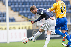 Falkirk's Rory Loy scoring their second goal.<br /> Falkirk 5 v 0 Cowdenbeath, Scottish Championship game played today at The Falkirk Stadium.<br /> © Michael Schofield.
