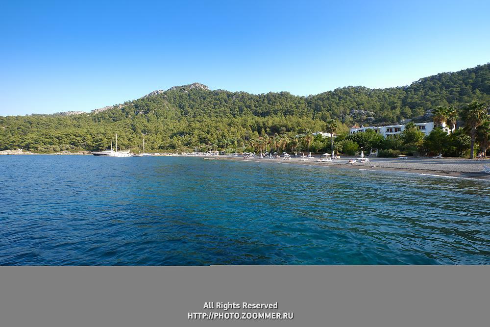 Kumlubuk beach near Marmaris in Mugla province, Turkey