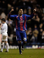 Photo: Jed Wee.<br /> Leeds United v Crystal Palace. Coca Cola Championship. 21/03/2006.<br /> <br /> Crystal Palace's Fitz Hall celebrates at the final whistle.
