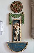 Painted plaster angels in village parish church of Saint Michael, Wilsford cum Lake, Wiltshire, England, UK