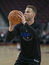 October 10, 2017 - Los Angeles, California, U.S - Blake Griffin #32 of the Los Angeles Clippers gets ready to shoot a basket during their Free Open Practice for fans held on Tuesday October 10, 2017 at the Galen Center in USC in Los Angeles, California. (Credit Image: © Prensa Internacional via ZUMA Wire)