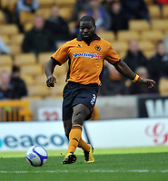Fotball<br /> England<br /> Foto: Fotosports/Digitalsport<br /> NORWAY ONLY<br /> <br /> Wolverhampton Wanderers v Stoke City FA Cup 4th Round 30.01.11<br /> <br /> George Elokobi Wolverhampton Wanderers 2010/11