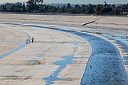The Los Angeles River, City of Paramount, South LA, Califortnia, USA,