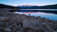 Turquoise Lake Early Morning Panorama, Leadville Colorado. Image taken with a Nikon D3x camera and 24 mm f/3.5 PC-E lens and Singray neutral density filter (ISO 100, 24 mm, f/16, 10 sec). Colorado Rocky Mountain Photo Safari with Jason Odell.