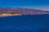 Santa Barbara, California USA (with Santa Ynez Mountains in background).