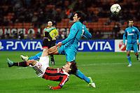 Fotball 4. desember 2012 , Champions League<br /> rovesciata di Bojan Krkic Milan, Bruno Alves Zenit<br /> Milan - Zenit<br /> Norway only
