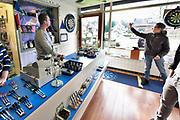 Nederland, Berg en Dal, 6-1-2018Mireille en Raymond Penninkhof in hun dartwinkel Pendon Darts.Foto: Flip Franssen