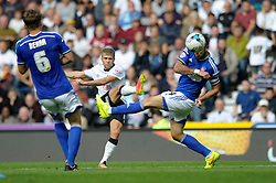 Derby County's Jamie Ward takes a shot at goal. - Photo mandatory by-line: Dougie Allward/JMP - Mobile: 07966 386802 30/08/2014 - SPORT - FOOTBALL - Derby - iPro Stadium - Derby County v Ipswich Town - Sky Bet Championship