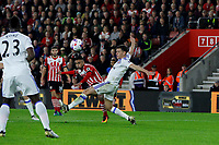 Football - 2016 / 2017 League Cup - Round 4: Southampton vs Sunderland<br /> <br /> Southampton's Sofiane Boufal curls in the opening goal at St Mary's Stadium Southampton <br /> <br /> COLORSPORT/SHAUN BOGGUST