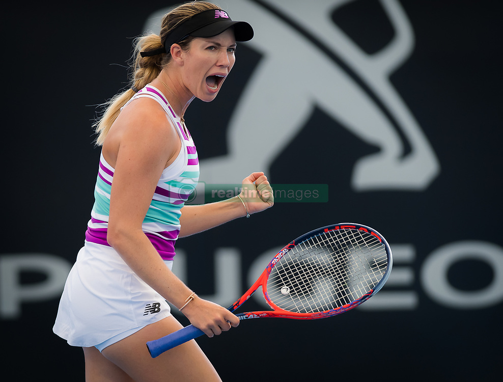 January 1, 2019 - Brisbane, AUSTRALIA - Danielle Collins of the United States in action during her first-round match at the 2019 Brisbane International WTA Premier tennis tournament (Credit Image: © AFP7 via ZUMA Wire)