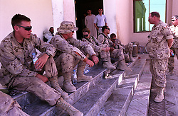 Canadian soldiers take a short time off at the Kandahar Governor House. Today the Gov. H. Asadullah K. will host a meeting with  the Ambassador of Japan N. Okuda and several other Diplomats.