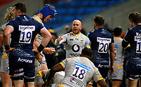 Rugby Union - 2020 / 2021 Gallagher Premiership - Sale Sharks vs Wasps - AJ Bell Stadium<br /> <br />  Dan Robson of Wasps celebrates at the final whistle at AJ Bell Stadium <br /> <br /> COLORSPORT/LYNNE CAMERON