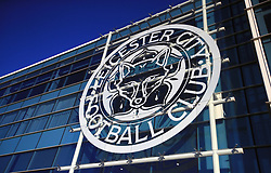 General view of the Leicester City badge before the Carabao Cup, third round match at the King Power Stadium, Leicester.