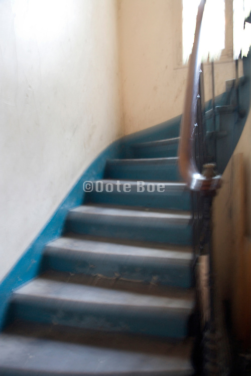 old stairwell blurred view