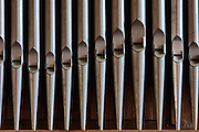 Israel, Jerusalem the Church of the Ascension - Augusta Victoria on mount olives, Named for the wife of German Emperor Wilhelm II, close up of the Organ pipes