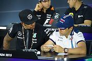 June 5-7, 2015: Canadian Grand Prix: Lewis Hamilton (GBR), Mercedes. Felipe Massa (BRA), Williams Martini Racing