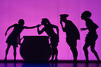 Pilobolus dance theatre - Shadowland at the Peacock Theatre, London UK, 12 March 2014. Photo by Vickie Flores.