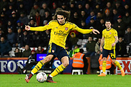 Matteo Guendouzi (29) of Arsenal shoots at goal during the The FA Cup match between Bournemouth and Arsenal at the Vitality Stadium, Bournemouth, England on 27 January 2020.