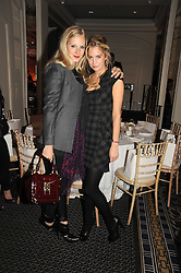 Left to right, SAVANNAH MILLER and MARISSA MONTGOMERY at the In Style Handbag Auction is association with Revlon raising money for the Rainbow Trust children's charity held at the Berkeley Hotel, Knightsbridge, London on 4th November 2008.