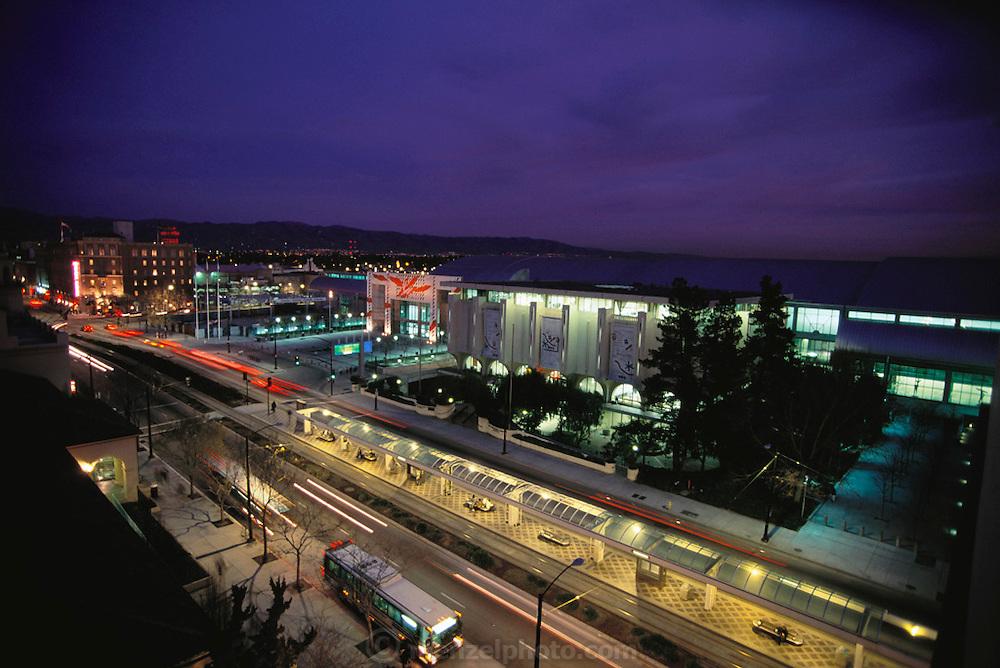 Silicon Valley, California; Downtown San Jose convention center.