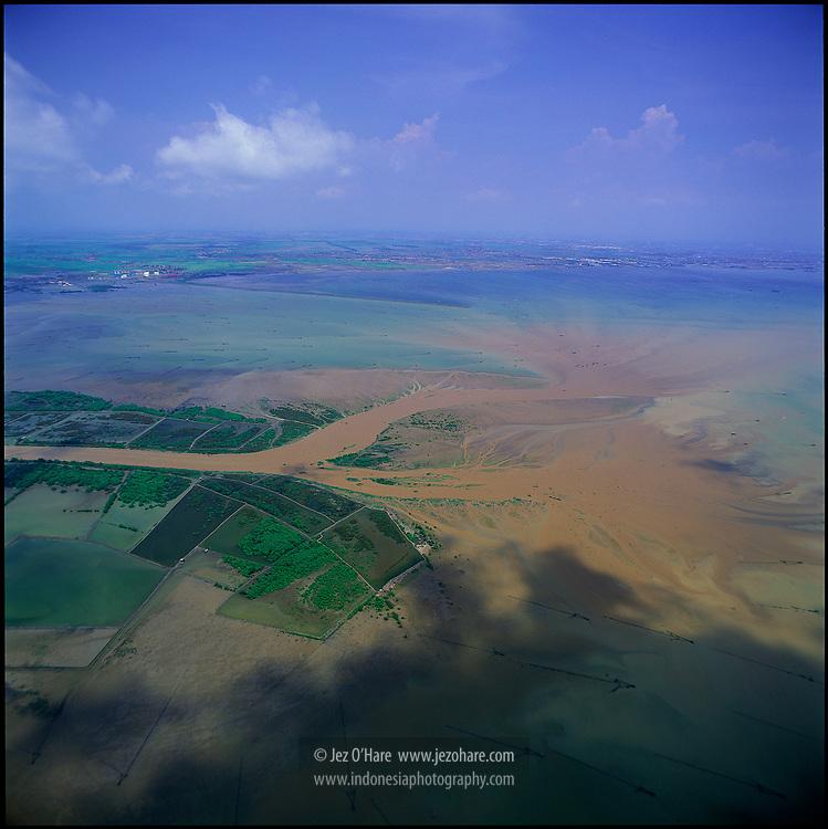 Citarum estuary, Jakarta bay, West Java, Indonesia.
