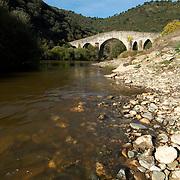 Medieval bridge over the Sabor river