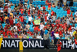 CHARLOTTE, USA - Saturday, July 21, 2018: Liverpool supporters during a training session at the Bank of America Stadium ahead of a preseason International Champions Cup match between Borussia Dortmund and Liverpool FC. (Pic by David Rawcliffe/Propaganda)
