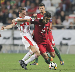October 10, 2017 - Na - Lisbon, 10/10/2017 - The Portuguese football team received their Swiss counterpart tonight in the last game of the group stage to qualify for the 2018 FIFA World Cup in Russia , next June. Portugal won 2-0 to reach the final. André Gomes  (Credit Image: © Atlantico Press via ZUMA Wire)