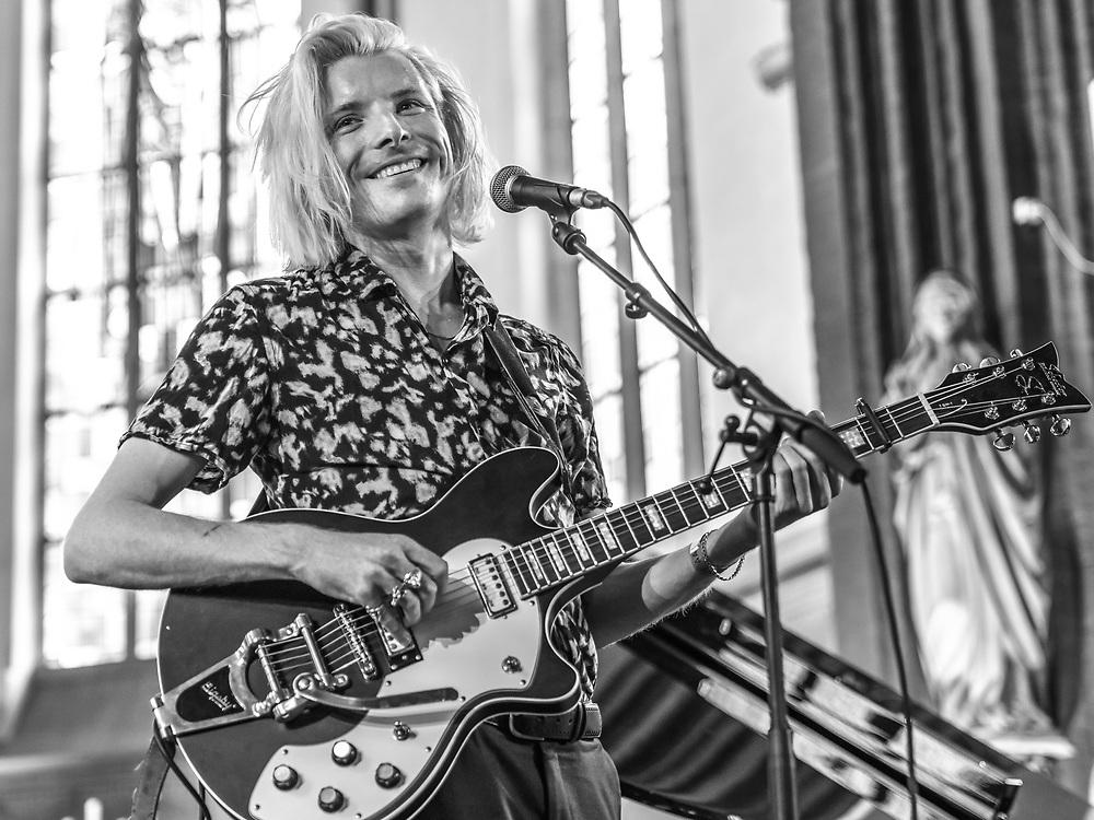 British singer-songwriter Adam French at St George's Church as part of Haldern Pop Festival