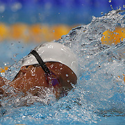 Federica Pellegrini, Italy, in action during the Women's 400m Freestyle heats during the swimming heats at the Aquatic Centre at Olympic Park, Stratford during the London 2012 Olympic games. London, UK. 29th July 2012. Photo Tim Clayton
