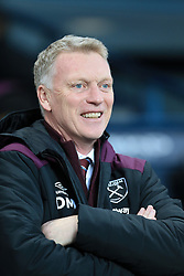 3rd December 2017 - Premier League - Manchester City v West Ham United - West Ham manager David Moyes laughs and smiles before the match - Photo: Simon Stacpoole / Offside.
