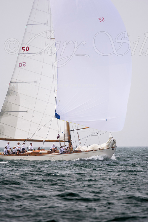 Sonny sailing in the Sail Nantucket Regatta, day two.