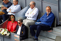 Tennis legends Manolo Santana (l) and Ion Tiriac during Madrid Open Tennis 2017 match. May 10, 2017.(ALTERPHOTOS/Acero)