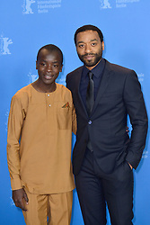 Maxwell Simba and Chiwetel Ejiofor attending The Boy Who Harnessed The Wind Photocall as part of the 69th Berlin International Film Festival (Berlinale) in Berlin, Germany on February 12, 2019. Photo by Aurore Marechal/ABACAPRESS.COM