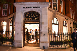 Atmosphere at a party hosted by Nicholas Kirkwood and Eva Fehren to celebrate Part 2 in the Nicholas Kirkwood presents series held at Nicholas Kirkwood, 5 Mount Street, London England. Eva Fehren is a fine jeweller, born and raised in New York City. Her collections are both inspired and created in the city, and via the Nicholas Kirkwood store, it is the first opportunity to view and shop the collection in London. 9 November 2017.